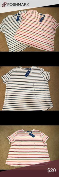 Karen Scott Sport Karen Scott Sport tShirt set of two. XL.  96% cotton and 5% Lycra Karen Scott Tops Tees - Short Sleeve