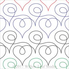Loopy Over You Paper Machine Quilting Pattern by Clothwerx Quilting Stencils, Longarm Quilting, Free Motion Quilting, Machine Quilting Patterns, Quilt Patterns, Quilting Ideas, Modern Quilting Designs, Quilt Designs, Paper Machine