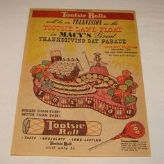 vintage macy's thanksgiving parade images | Macy's Thanksgiving Day Parade & Tootsie Rolls, 1954