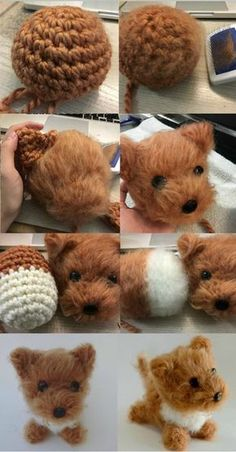 Amigurumi Dog Brush Crochet - Amigurumi Dog Brush Crochet Informations About Ami. - Amigurumi Dog Brush Crochet – Amigurumi Dog Brush Crochet Informations About Amigurumi Dog Brush - Crochet Diy, Crochet Crafts, Yarn Crafts, Crochet Projects, Dog Crochet, Crotchet, Diy Crafts, Crochet Monkey, Crochet Eyes