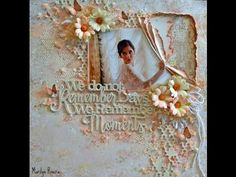 A Shabby Chic- Mixed Media layout with the Attic Charm collection and products by Blue Fern Studios.