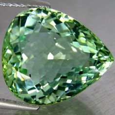 Green Natural Paraiba Elbaite Tourmaline 9.88ct The color of this green is amazing! Even more beautiful than Emerald... what if this and Emerald were together?? GASP!!! :D <3