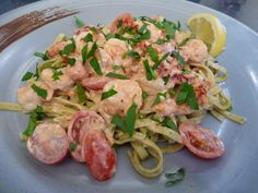 Seafood : Goat Cheese Shrimp Pasta