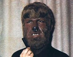 Only known true color pic of Lon Chaney in Wolfman make-up. Cropped from House of Dracula.