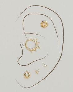 """𝑨𝑵𝑵𝑨 on Instagram: """"Set de hermosas joyitas disponibles en @ohmygoldboutique y @stefanostattoogallery ✨ #piercing #jewelry"""" Piercing, Anna, Instagram, Piercings, Body Piercings"""