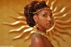 """My """"Queen of Queens"""" look for the wedding; we could duplicate this. Dreadlock Styles, Dreadlock Hairstyles, African Hairstyles, Locs Styles, Natural Hairstyles, Heat Free Hairstyles, Loc Updo, Hair Updo, Natural Hair Styles For Black Women"""