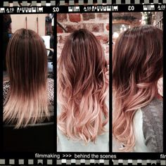 Before and after Cinderella hair extensions #ombre #miragesalonandspa