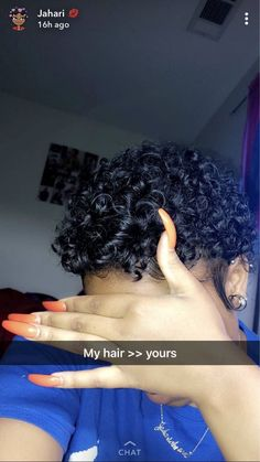 Nails Natural Short Curls Ideas For 2019 Short Curls, Short Curly Hair, Short Hair Cuts, Curly Hair Styles, Natural Hair Styles, Cute Short Natural Hairstyles, Baddie Hairstyles, Weave Hairstyles, Big Chop Hairstyles