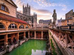 Bath, England First used as a Celtic shrine dedicated to the goddess Sulis, the baths became a quotidian spot for socializing and bathing (no small task then) in post-conquest Roman culture. After touring the baths and temple dedicated to the goddess Minerva, take a sip of spring-sourced mineral water. (There's also tea available—this is Britain, after all.)