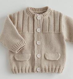 39 most showy towel edge needlework models - Babykleidung Baby Cardigan Knitting Pattern Free, Kids Knitting Patterns, Baby Sweater Patterns, Baby Boy Knitting, Knit Baby Sweaters, Knitted Baby Clothes, Boys Sweaters, Knitting For Kids, Knitting Designs