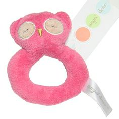 Angel Dear - Hot Pink Owl Ring Rattle