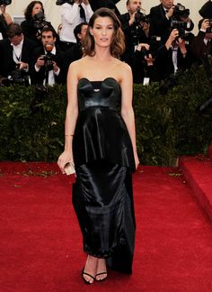 Hanneli Mustaparta in Calvin Klein Collection at the 2014 Met Gala.