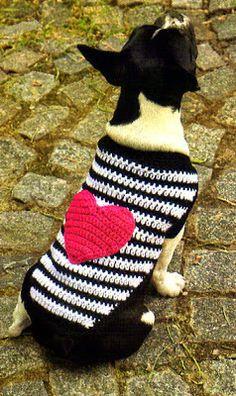 Delicadezas en crochet Gabriela: Ropa para mascotas
