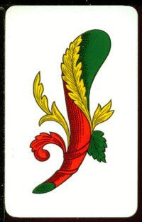 """So colourfuI. I want this for a tattoo - """"The Neapolitan cards, even today, they derive their meanings and interpretations from the ancient Neapolitan tradition. The meaning of the ace of the staff. At the right is the confirmation, affirmation, positive response to the question. The bastoni have the """"strength"""". The ace is the principle of this force, the birth, the positive, the conquest. Representing the """"manhood"""" masculine may mean the arrival of a maternity or a paternity, or the birth…"""