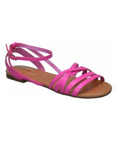 2a6b3b55733391 Pink Strappy Indio Sandal  tonjaamenra Strappy Sandals
