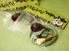 melted witch chocolates-wizard of oz party