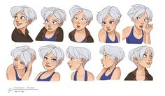 Expressions Ava , Jenny Harder on ArtStation at… Character Design Cartoon, Character Design References, Character Drawing, Character Design Inspiration, Character Illustration, Character Concept, Concept Art, Animation Character, Character Sketches