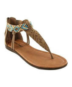 Look what I found on #zulily! Taupe Antigua Suede T-Strap Sandal #