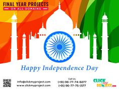 "#Clickmyproject wishes you all a "" Happy Independence Day """
