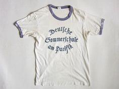 70's USA製Hanesヘインズ シミプリ リンガーTシャツ【M】/D35 - BRIDGE