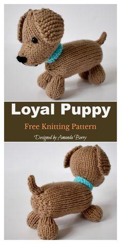 Loyal Puppy Free Knitting Pattern Loyal Puppy Free Knitting Pattern Source by frisurensite Animal Knitting Patterns, Crochet Patterns, Knitted Doll Patterns, Knitted Dolls Free, Crochet Gratis, Free Crochet, Knit Or Crochet, Crochet Baby Toys, Knitted Animals