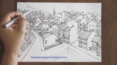 how to draw a town in perspective....must see