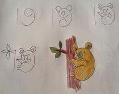 Simpele tekeningen met getallen als basis