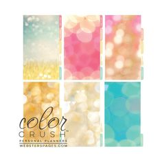 Today is a Great Day, Color Crush Personal Planner Divider Set Kit (Light Pink)