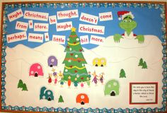 Dr. Seuss Grinch Christmas bulletin board