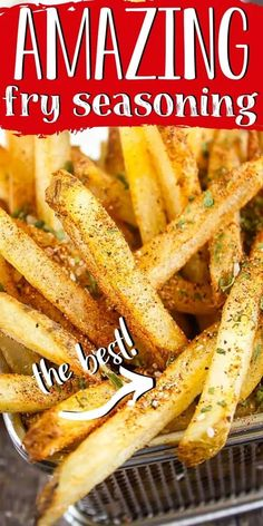 Homemade Dry Mixes, Homemade Seasonings, French Frie Seasoning, Seasoned Fries, Seasoned French Fries Recipe, Homemade French Fries, Homemade Fries In Oven, Potato Dishes, Vegetable Recipes
