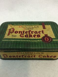 Very good condition for its age. Pontefract Cakes, My Ancestors, Cake Tins, Yorkshire, Old Things, The Originals, Ebay, Vintage, Cake Boxes