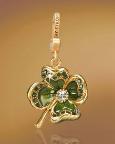 Perfect! -- Jay Strongwater Dhanya Four-Leaf Clover Charm from Neiman Marcus