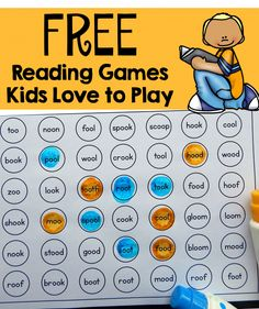 These free games are a great oo words activity!  My preschooler loves to see who gets four in a row first.
