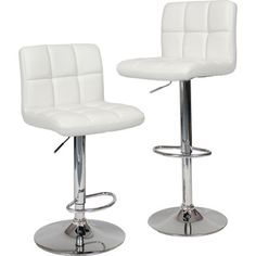 Roundhill Swivel White Leather Adjustable Hydraulic Bar Stool Set of 2  sc 1 st  Pinterest & Winsome Wood Air Lift Adjustable Stools Set of 2 http://www ... islam-shia.org