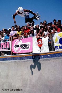 Lester Kasai flying high at a Del Mar Skateranch contest. August 1985