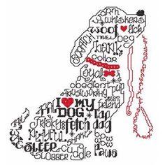 Cross Stitch Design Lets Bark - cross stitch pattern designed by Ursula Michael. - Let's Bark cross stitch pattern. Another fun pattern in our 'Words' series. Counted Cross Stitch Patterns, Cross Stitch Charts, Cross Stitch Designs, Cross Stitch Embroidery, Embroidery Patterns, Machine Embroidery, Hand Embroidery, Blackwork Cross Stitch, Cross Stitch Animals