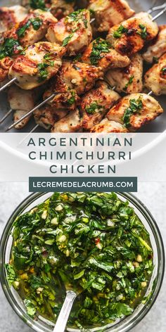 This recipe for Argentinian Chimichurri Chicken is the perfect way to change up your same old chicken routine. Turkey Recipes, Mexican Food Recipes, Vegetarian Recipes, Dinner Recipes, Cooking Recipes, Healthy Recipes, Restaurant Recipes, Argentinian Chimichurri, Chimichurri Chicken