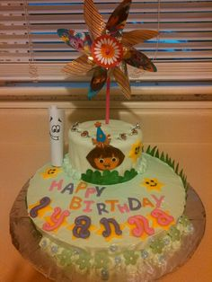 Interactive Dora cake