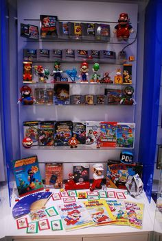 Super Mario Bros. Franchise Cabinet at Nintendo World