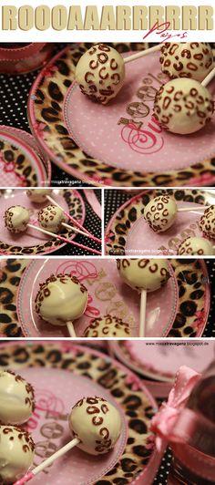 Leoparden Cakepops