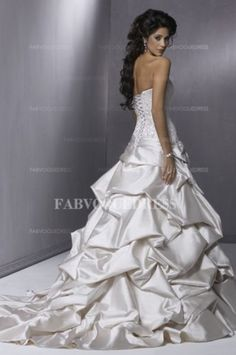Lace wedding dress light grey