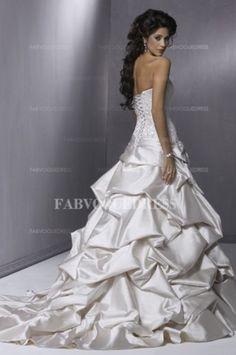 Lace wedding dress light grey
