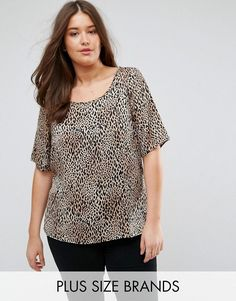 Get this Junarose's printed top now! Click for more details. Worldwide shipping. Junarose Leopard Print Shell Top - Multi: Plus-size top by Junarose, Lightweight woven fabric, Leopard print, Scoop neck, Regular fit - true to size, Machine wash, 100% Polyester, Our model wears a UK 18/EU 46/US 14 and is 180cm/5'11 tall. Designed for sizes up to UK 28, Danish label Junarose is the plus-size sister of Vero Moda and Only. Focused on embracing the female silhouette, each collection is carefully…
