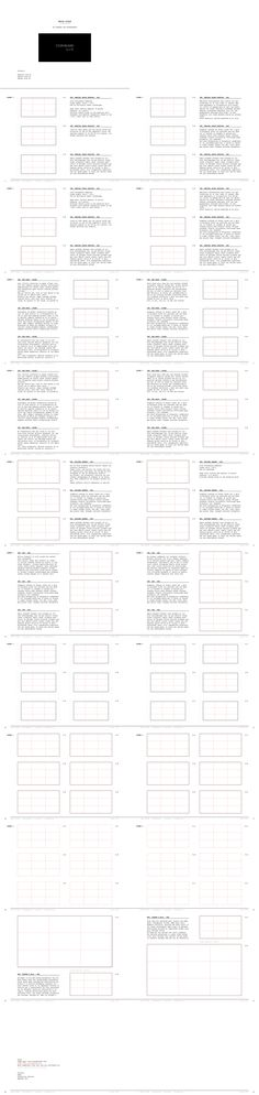 Film storyboard template vertical x4 Professional of film vector