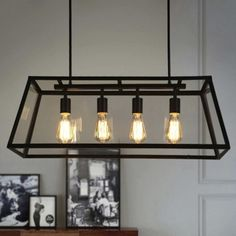 Large Lantern Industrial Pendant With Trapezoid Iron Outshape Fashion Style Lighting