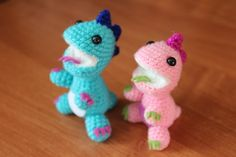 crochet toy / little dragons (+ free russian pattern)