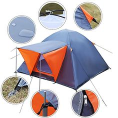 Fanala Waterproof Outdoor 34 Person Camping Hiking Travel Backpack Tent Double Layer ** See this great product.