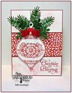 Our Daily Bread Designs Stamp Set: Christmas Ornament, Our Daily Bread Designs Custom Dies: Christmas Ornament, Lovely Leaves, Bitty Borders, Mini Bow, Beverage Cup, Our Daily Bread Designs Paper Collection: Holly Jolly