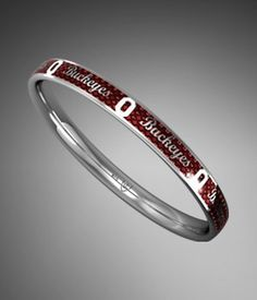 "Ohio State Red ""Ohio State Buckeyes"" Bangle Bracelet.....oh my I need this!!!"