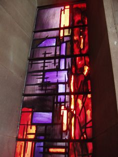coloured glass - John Piper Glass, Coventry Cathedral